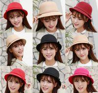 Wholesale 10pcs Korean fashion new winter bow basin Hat Lady little wool hat warm basin hat hat