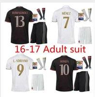 Wholesale Mixed Team DHL New AC milan Soccer Jerseys kits MENEZ BACCA Survetement football shirts honda EL SHAARAWY men full set jerse