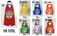 Wholesale Patrol Dog My little pony L70 W70CM Double Side cape and mask sets Child Cosplay Halloween Costumes kids Captain America cape mask set