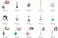 Wholesale 2016 New Mixed Designs Medicine Zinc Alloy Navel Belly Ring Buttons for Body Piercing Jewelry