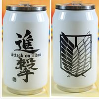 animations steel free - Attack on Titan cos Wings of Liberty stainless steel Conan Creative thermos Unisex Animation around the birthday gift ml