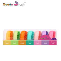Wholesale Candy Brush Popular Colorful Hair Brush Convenient And Hand Made Candy Egg Shaped Comb Oval Wet Brush