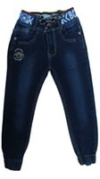 autumn threads - The new blue jeans boy letter threaded strap Features elastic waist pants fashion foot mouth code