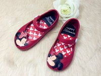 Wholesale children beach Sandals Mickey Minnie kids toddler baby little girls crystal jelly shoes footwear candy smell style mini melissa