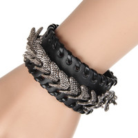 bicycle set designer - Designer Wristband bicycle Chain new sale Rock and roal leather bracelet charms punk rock men jewelry Fast shipping STB2