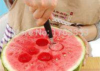 Wholesale 200pcs Stalinless Steel Dual Double end Melon Baller Scoop Fruit Spoon Ice Cream Dessert Sorbet Kitchenware FHG