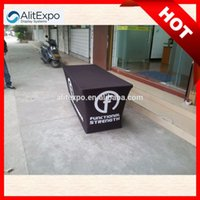 Wholesale Customed full color Dye Sublimation Printed table cloth table cover table throw g polyester dye sublimation Trade Show Table Cover