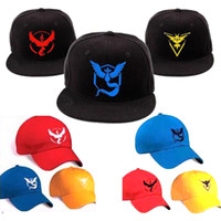Wholesale 9 Style Poke pikachu go poke Hat Snapback Baseball Cartoon Children Adult Sports Hip Hop Pikachu Mesh baseball hockey Sport HatI201672102