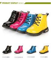 Wholesale 2016 New Arrivals Children s Martin boots men shoes girls shoes single princess boots tide kids british shoes Baby waterproof boots