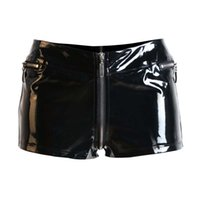 Wholesale Women Black Shorts pvc for Sexy Patent Dancer Shorts ladies pvc hotpants Sexy Vinyl Shorts Club Short Punk Hotpant Booty