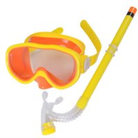Wholesale New Arrival PVC Swimming Scuba Anti Fog Goggles Mask Snorkel Set Diving glasses ZD084B