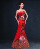 Wholesale stunning and beautiful chinse mermaid wedding dress in stock