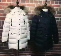 Wholesale Children s winter white duck down jacket good quality large fur collar is very warm