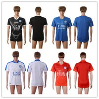 Wholesale Thailand Quality Leicester City Men Uniform Football Jerseys DRINKWATER ULLOA DYER MAHREZ VARDY Mens Soccer Jersey