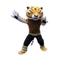 big lungs - Big Cute High Quality Kung Fu Panda Tai Lung Cheetah Furry Polar Cartoon Mascot Costume Party Fancy Dress Adult Size Hot