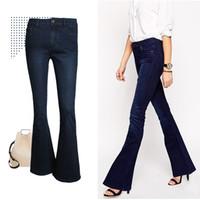 Cheap Womens Denim Flare Jeans | Free Shipping Womens Denim Flare ...