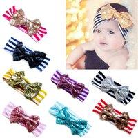 Other baby playhouses - 2016 Baby Headbands Chiffon flower girls hair headdress and cloth Chiffon bow stripe Playhouse Hair Sticks