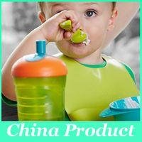 Wholesale Silicone baby bibs Infant Feeding Baby Kid Bib Baby Silicone Kid Washable Bib Fun Characters Waterproof Mix Colors