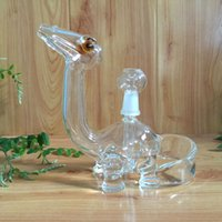 clear glass - USA clear dino glass bongs glass water pipes oil rigs with slitted cuts perc and mm joint size