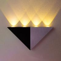 art deco wall mirror - 4W Triangle LED wall light Sconces Mirror lamp Backlight Decorative llight LED Corridor light Epistar energy saving LED lamp bar KTV room