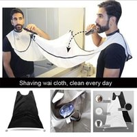 Wholesale 100Pcs New Waterproof Coating Beard Catcher DIY Durable Nylon Shaving Wai Cloth Dye Release Scarf Shaving Barbers Scarves