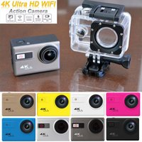 adjustable camera - Newest F68 K ultra HD Wifi Sports Action Camera Adjustable Wide Angle Screen Full HD Diving Waterproof M Sport Camera