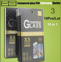 Wholesale Galaxy A8 A9 Tempered Glass Screen Protector for iPhone s plus plus s SE s6 note J1 J2 J3 J5 J7 A3 A5 A7 E5 E7 with Retail Box