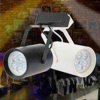 Wholesale 7W LEDs AC85 V COB Rail Track Light LED Spotlight Adjustable Light Track for Mall Exhibition Office Use high brightness