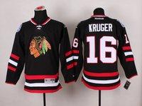 Wholesale Kruger Chicago Blackhawks Hockey Ice Jerseys white red black ccm Premier home away wear for Men Mix Order sunnee