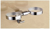 Wholesale luxury Europe design stainless steel cup holder for bathroom made in china
