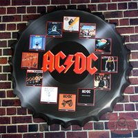 best restaurants europe - Round Sign AC DC Best Bands Beer bottle Cap Pub Restaurant Lounge Bar Wall Decor cm RD