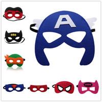 Wholesale 20 Halloween Felt Eye Mask Super Hero Spider Man Mask Monster Pumpkin Environmental Mask