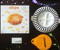 Plastic apple crisp microwave - 60 Set Home Microwave Oven Apple Fruit Potato Crisp Chip Slicer Snack DIY Maker Tray Cooking Tools
