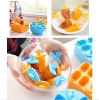 Wholesale 2016 New Set Round Pop Mold Popsicle Maker Lolly Mould Tray Pan Kitchen Frozen Ice Cream DIY