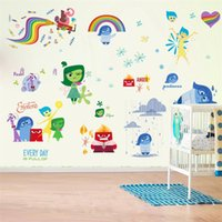 baby fear - 100pcs movie art inside out cartoon joy sadness fear disgust wall stickers Kids room decor wall decals girls gift IO007 baby room