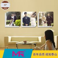 art photo frame - 20 inch photo frame square D crystal embroidered ceramic material wall art simple stylish elegant and modern picture frame