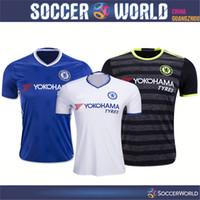 Wholesale Top thai Chelsea soccer jerseys Chelsea shirts HAZARD HOME BLUE KANTE DIEGO COSTA FABREGAS WILLIAN PEDRO DAVID LUIZ football shirts