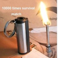 Wholesale New emergency match box times Stainless steel material outdoor survival magnesium rod lighter flint stone fire starter