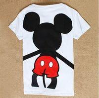 Wholesale New style back hug mickey cute cartoon women s t shirt short sleeve cotton summer t shirt