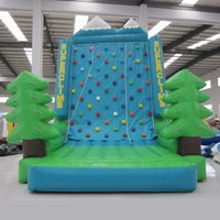 kids indoor play equipment - AOQI rock climb equipment inflatable climbing wall mini indoor inflatable sport game rock climbing wall for kid made in guangzhou