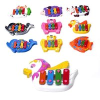 Wholesale Kids Educational Toy Just Beat It note Resonator Piano Bells Animal Design Knocking Toy Random Type K5BO