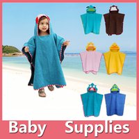 baby bathrobe pattern - Kids Animal Bathrobe Toddler Girl Boy Baby Cartoon Pattern Robes Towels Hooded Bath Towel Terry Wrap Bath Robes