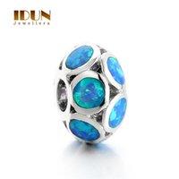 Wholesale 2016 fashion charms bracelets for women Vintage Silver Opal Stone charms Fit Statement Bracelets Necklaces women wedding Jewelry FX006