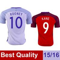 away england - 2016 ENGLAND jerseys Thai Quality Home White Away red Soccer jerseys ROONEY KANE STERLING Camiseta de futbol
