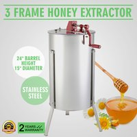 Wholesale THREE FRAME HONEY EXTRACTOR STAINLESS STEEL Brand New Large Frame Stainless Steel Manual Honey Extractor stainless steel legs