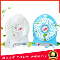 Wholesale New inch Vanes Speeds Portable mini USB Rechargeable Cooling Leaf Fan with li ion Battery Colors