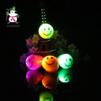 Wholesale Emoji LED Flashing Ring Smile Face Finger Ring Soft Jelly Glow Rings Halloween Christmas Festival Party Toys