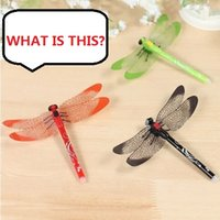 Wholesale Multi Function Pen novelty toys funny gadgets pen Magic Dragonfly silicone pen Z893