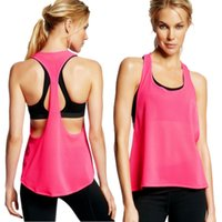 athletics singlet - Women Sports Exercise Running Vest Fitness Jogging Yoga Clothes Singlet Tank Top Athletic Apparel