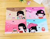 Wholesale pc set Kawaii Japanese Cute Girl Style File Folder waterproof Documents File Bag stud Stationery Filing Production